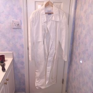 Henry Grethel Cream Duster Trenchcoat XL New